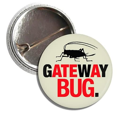 Button - Crcikets are the Gateway Bug