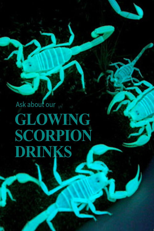 Scorpions Glow Table Card