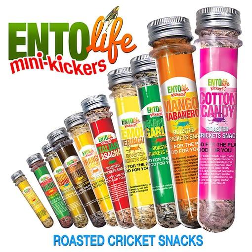Mini-Kickers Flavored Cricket Snacks
