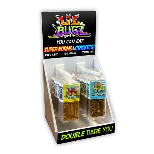 Lil Bugz Edible Crickets and Superworm Display