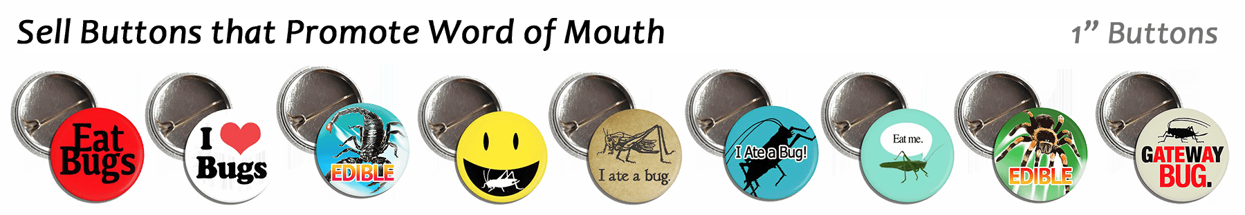 Edible Insect Buttons