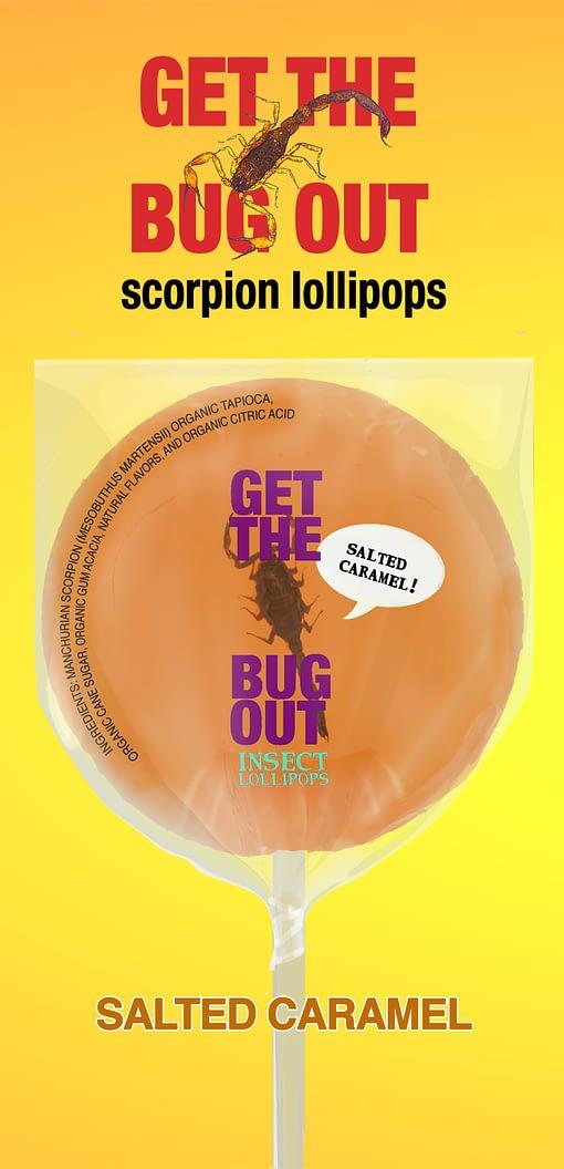 Caramel Scorpion Lollipop