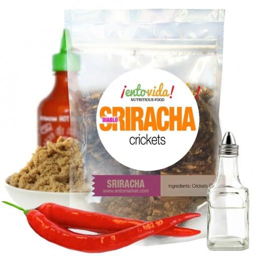 Sriracha Cricket Snacks