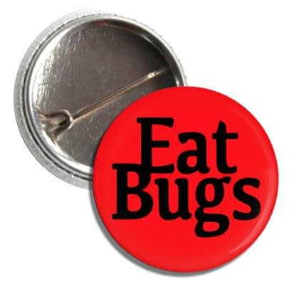 Red Eat Bugs Button
