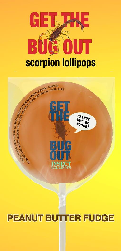 Peanut Butter Scorpion Lollipop