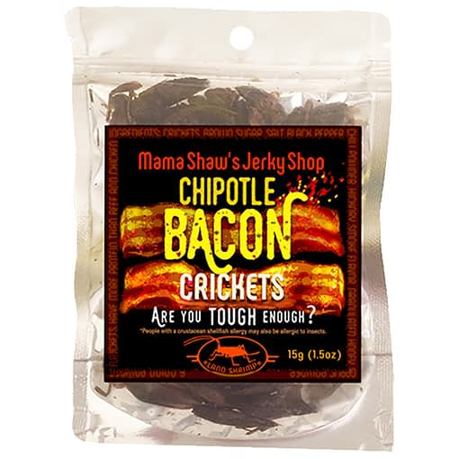 Mama Shaws Chipotle Bacon Crickets